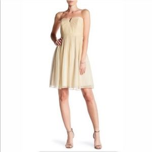 J crew nude sweetheart silk chiffon dress size 8